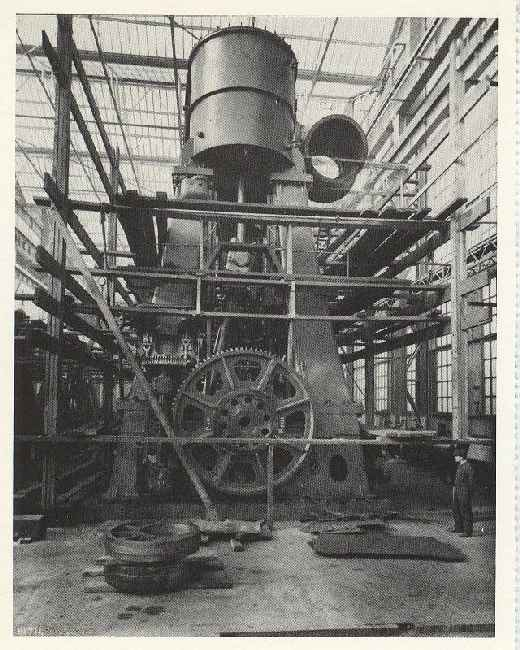 A Set of Titanics engines under construction in shipyard 1911