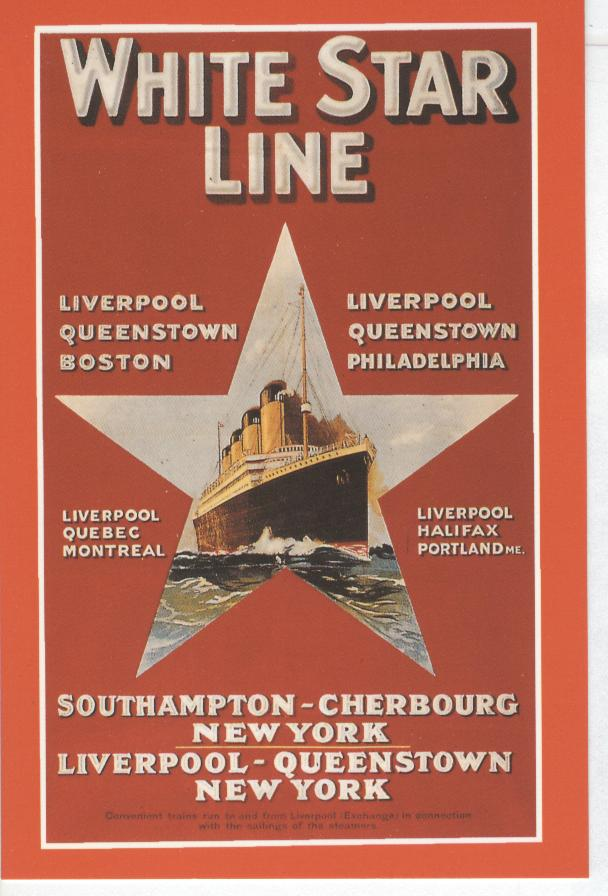 White Star Line Liverpool Marine Art Posters 1993
