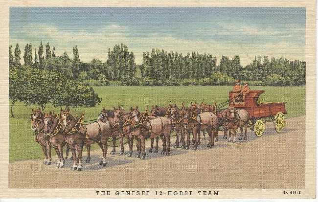 Alcohol Postcard - The Genesee 12-Horse Team