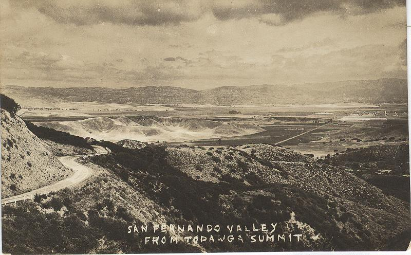 San Fernando Valley from Topanga Summit