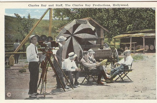 Charles Ray and Staff, The Charles Ray Productions, Hollywood