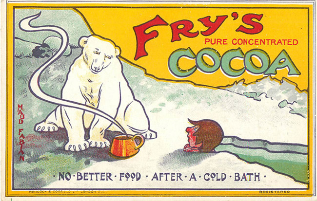 Advertising Postcard - Fry's Cocoa