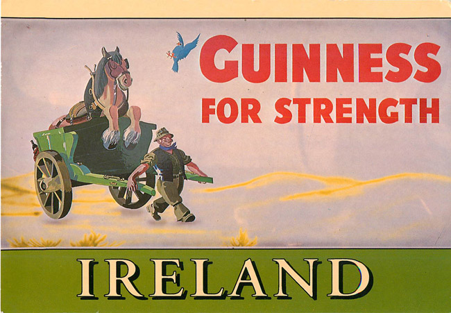 Advertising Postcard - Guinnesss for Strength - Ireland