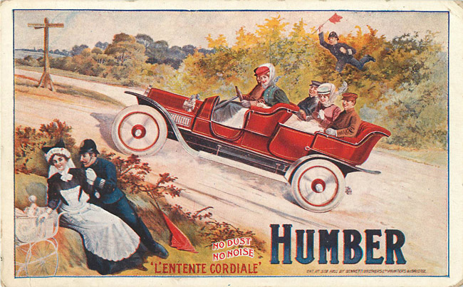 Advertising Postcard - Humber