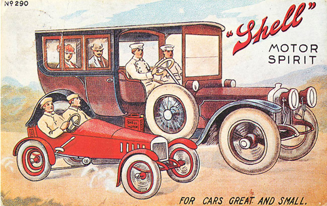 Advertising Postcard - Shell Motor Spirit