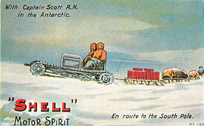 "Advertising Postcard - ""Shell"" En route to the South Pole"