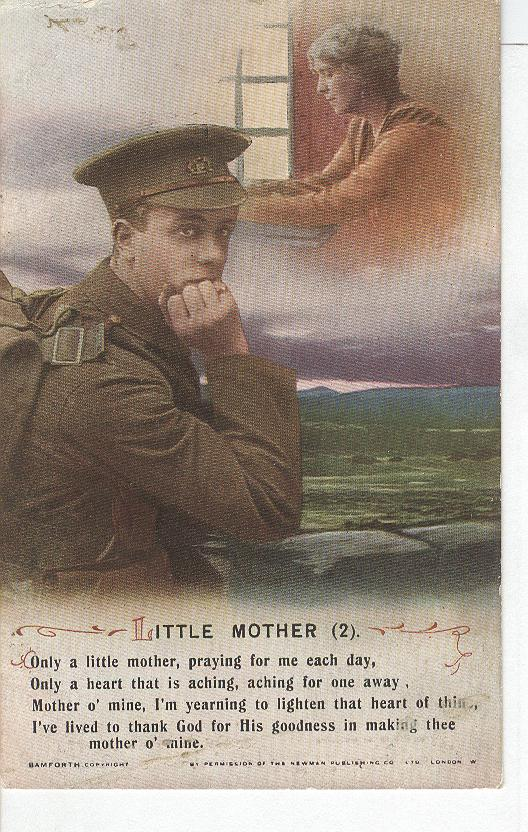 "World War 1 ""Little Mother"" Story War Postcard"