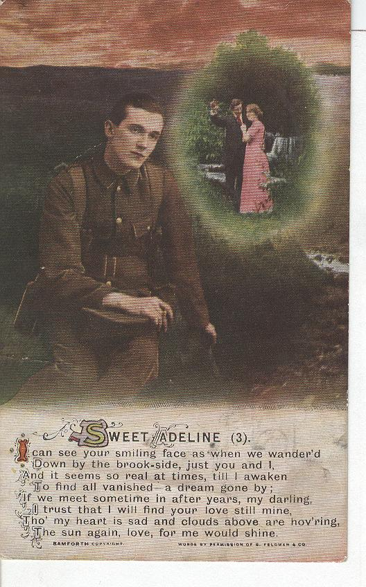"World War 1 ""Sweet Adeline"" Story War Postcard"