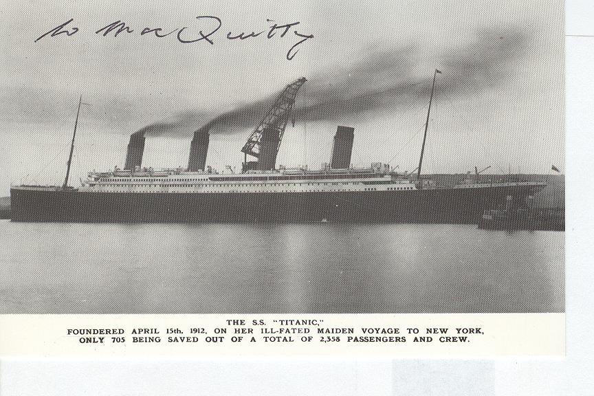 Titanic Personally Autographed By William MacQuitty Producer